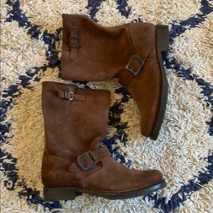Frye brown suede Veronica short boot